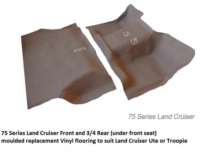 Toyota land cruiser 75 Series TROOPIE replacement inyl flooring Kit