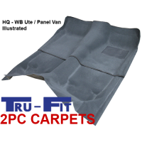 Holden Commodore Ute VG, VP, VR, VS 1988 - 1997 2Pc Front & Rear Moulded Carpet in Plush Pile