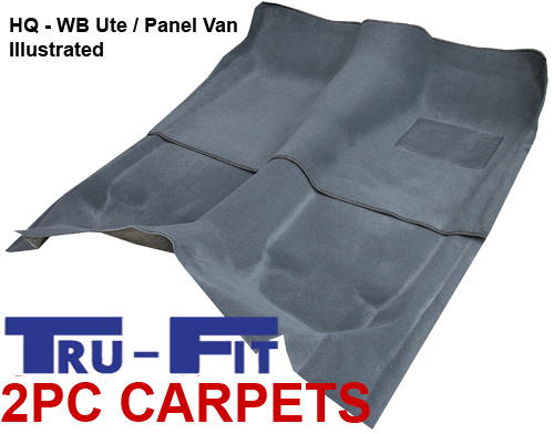 Holden Commodore VL 1985 - 1988 2Pc Front & Rear Moulded Carpet in Plush Pile