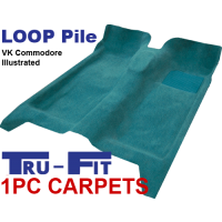 Holden Commodore VL 1985 - 1988 1Pc Moulded Carpet in Loop Pile