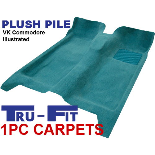 Holden Commodore VL 1985 - 1988 1Pc Moulded Carpet in Plush Pile