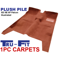 Ford Falcon XD XE XF 1979 - 1988 1Pc Moulded Carpet in Plush Pile