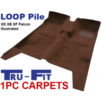 Ford Falcon XD XE XF 1979 - 1988 1Pc Moulded Carpet in Loop Pile